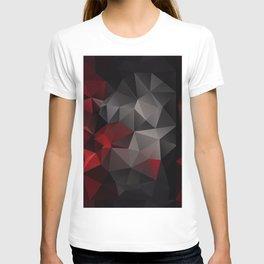 Polygon red black triangles . T-shirt