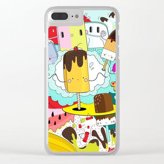Crazy summer doodleys Clear iPhone Case