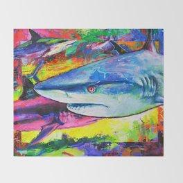 Shark Colors Throw Blanket