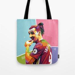 Zlatan Ibrahimovic alt-color WPAP Tote Bag