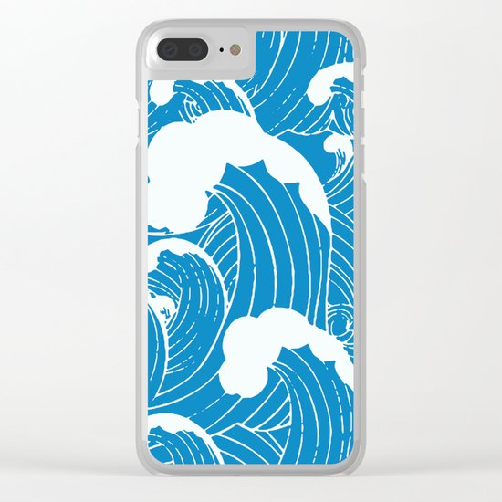 waves after waves Clear iPhone Case