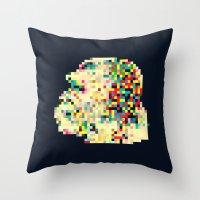 8bit Throw Pillows featuring Ape 8bit by jnk2007