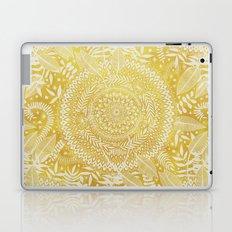 Medallion Pattern in Mustard and Cream Laptop & iPad Skin