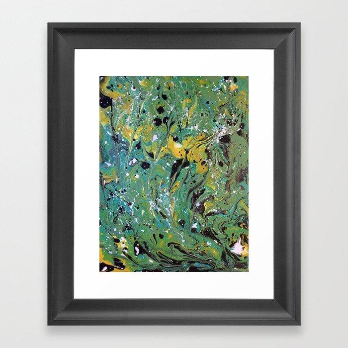 Original, Acrylic Painting, Poured Painting, Abstract, Acrylic Flow, Art  Resin, Art Epoxy, Fluid Framed Art Print by olga367art