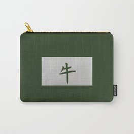 Chinese zodiac sign Ox green Carry-All Pouch