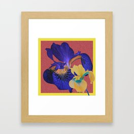 Iris Floral Hug Love Framed Art Print