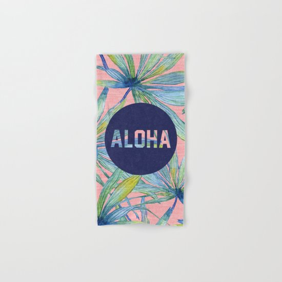 Aloha - pink version Hand & Bath Towel