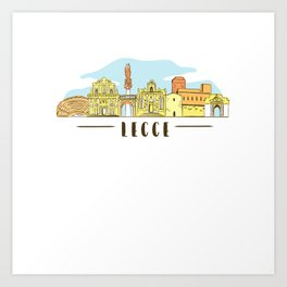 Lecce Shirt Puglia Italy Art Print