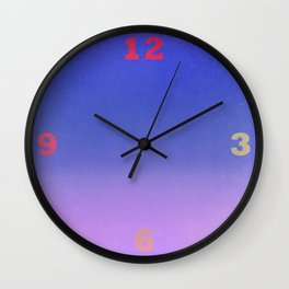 Colour Gradient 1 Wall Clock