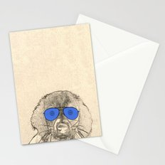 dog with glasses Stationery Cards