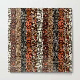 Geometric African Pattern Metal Print