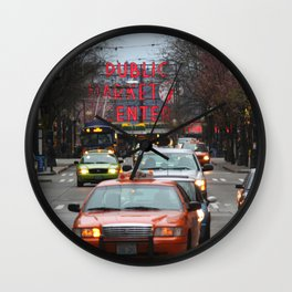 Pike Place Market Photography Print Wall Clock