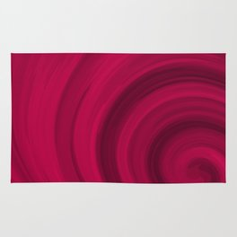 Red abstract pattern Rug
