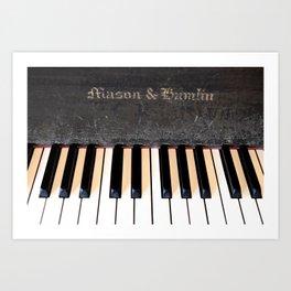 Antique Mason & Hamlin Piano Art Print