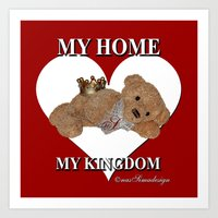 My Home, My Kingdom - Red Art Print