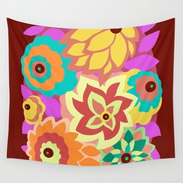 CAMBRIA, ART DECO FLORALS: MOD MADNESS Wall Tapestry