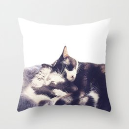 Cats again Throw Pillow