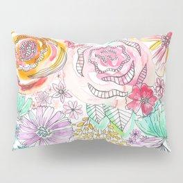 Pastel Roses Pillow Sham
