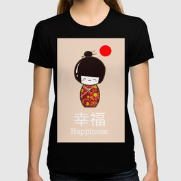 Geisha Girl Happiness Kawaii T-shirt