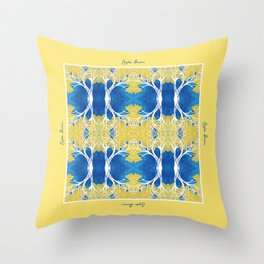 CortezAmarillo Tree Pattern Design Throw Pillow