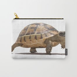 Marching Baby Tortoise Cartoon Vector Isolated Carry-All Pouch