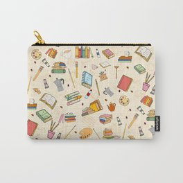 Books Art and Coffee Carry-All Pouch
