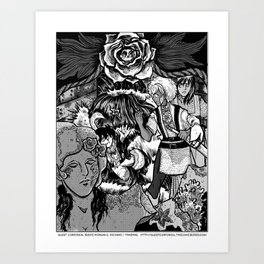 The Deadly Legend of the Blue Rose Art Print