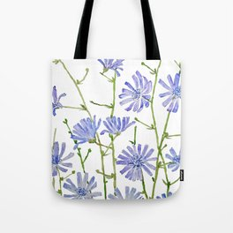 blue chicory watercolor Tote Bag