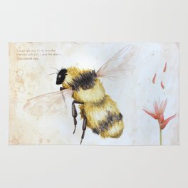 Bumble bee watercolor Rug