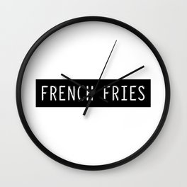 French Fries Old Typewriter Letters Wall Clock