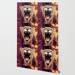 african lioness safari cat v2 vector art late sunset Wallpaper