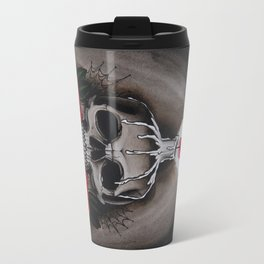 Voodoo Skull and Roses with candle Travel Mug