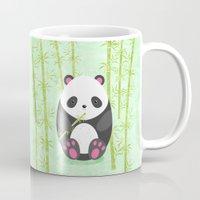 panda Mugs featuring Panda  by eDrawings38