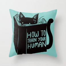 Cat Reader Advice Throw Pillow