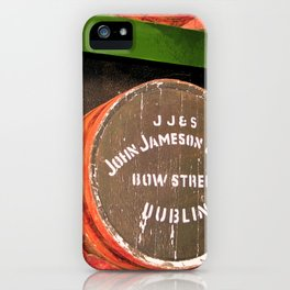 Jameson whiskey - Jameson Irish whiskey wooden barrel face photography iPhone Case