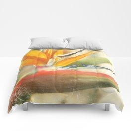 Bird of Paradise - Strelitzea reginae - Tropical Flowers of Hawaii Comforters
