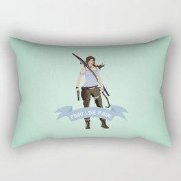 Fight Like a Girl: Lara Croft Rectangular Pillow
