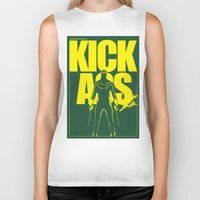 ass Biker Tanks featuring KICK ASS by justjeff