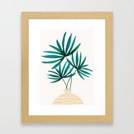 Tropical Palm Bouquet Framed Art Print