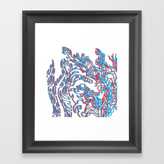THIRD DIMENSION Framed Art Print