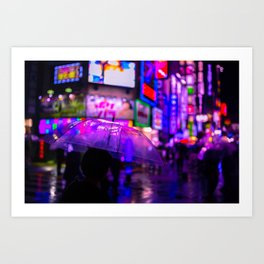 Kabukicho Blur Art Print