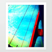 Golden Gate Pt. 1 Art Print