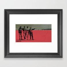 X MARKS// Framed Art Print