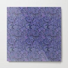purple paisley Metal Print