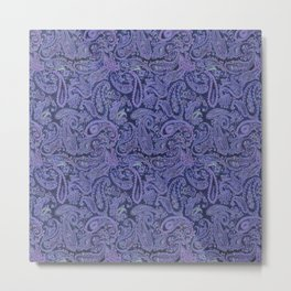 purple paisley Metal Print