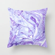 Purple & Blue Marbling Throw Pillow