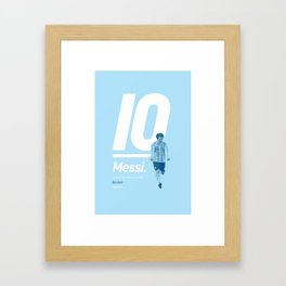Messi Argentina 10 Framed Art Print