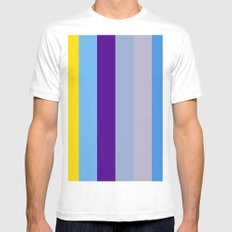 Abstract Modern Art Composition Pattern Minimalism Design White Mens Fitted Tee MEDIUM