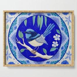 Blue Wren Beauty Serving Tray