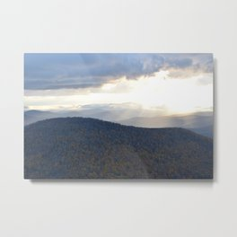 Stormy Mountain Scene  Metal Print